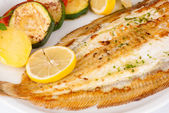 Grilled sole — Stock Photo