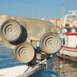 Winch on a trawler — Stock Photo