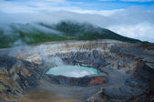 Poas volcano fumes — Stock Photo