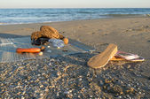 Beach equipment — Stock Photo