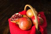 Pommegranates still life — Stock Photo