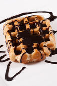 Fresh Belgian waffle — Stock Photo