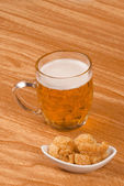 Beer and tapa — Stock Photo