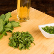 Mint sauce ingredients - Stock Photo