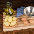 Stock Photo: Cooking Spanish tortilla