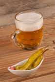 Beer with hot pepper — Stock Photo