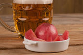 Pickled onion tapa — Stock Photo