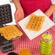 Stock Photo: Ready to eat waffles