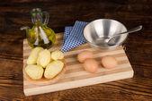 Tortilla ingredients — Stock Photo