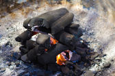 Pile of charcoal — Stock Photo