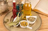 Cosmetic herbs — Stock Photo