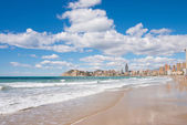 Benidorm beach and town — Stock Photo