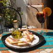 Tapa on sunny terrace — Stock Photo