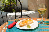 Tapa on terrace — Stock Photo