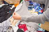 Jumble sale — Stock Photo