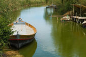 La Albufera fishing boats — Stock Photo