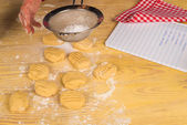 Icing sugar on cookies — Stock Photo