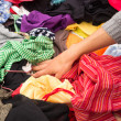 Jumble sale stall — Stock Photo
