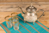 Moroccan tea pot — Stock Photo