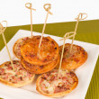 Mini pizzas — Stock Photo #26396685