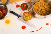 Mess in the kitchen — Stock Photo