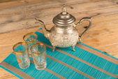 Moroccan tea pot — Stock Photo