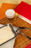 бакалавр ужин комплект — Стоковое фото