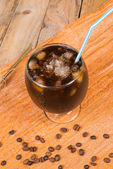 Refreshing iced coffee — Stock Photo