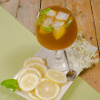 Foto Stock: Glass of iced tea