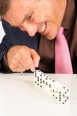 Fun with domino stones — Stock Photo