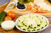 Greek ingredients — Stock Photo