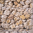 Gabion wall detail — Stock Photo