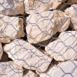 Stones of a gabion wall — Stock Photo