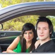 Stock Photo: Couple inside car