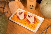 Halloween sandwiches — Stock Photo