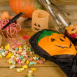 Halloween kid party — Stock Photo