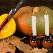Pumpkin murder — Stock Photo