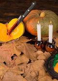 Halloween still life — Stock Photo