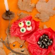 Kid Halloween party teats — Stock Photo