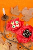 Kid Halloween party teats — Stock Photo