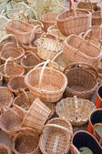 Wickerwork baskets — Stock Photo