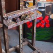 Easel in painters atelier — Stock Photo #35306257