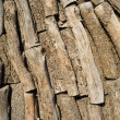 Piled logs — Stock Photo