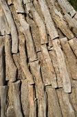 Logs inside a charcoal kiln — Stock Photo