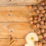 Seasonal food background — Stock Photo