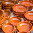 Earthenware pots and pans — Stock Photo