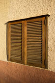 Window with shutters — Stockfoto
