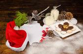 Santa wish list still life — Stock Photo