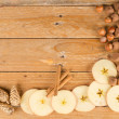 Seasonal food background — Foto de Stock