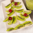 Kiwi Christmas tree — Foto Stock